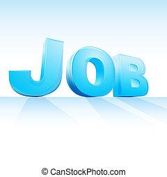 job text - illustration of job text