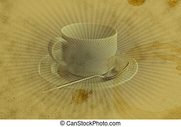 Grunge Vintage Coffee Cup Stain Background