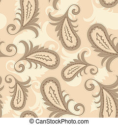 vector seamless paisley pattern. clipping mask