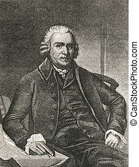 Samuel Adams (1722-1803). Engraved image from a Harpers...