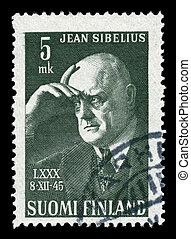 Sibelius on a stamp - A Finnish stamp celebrating composer...