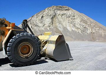 bulldozer in sand-pit