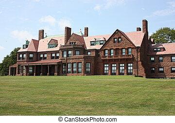 Salve Regina University in Newport Rhode Island overlooks...