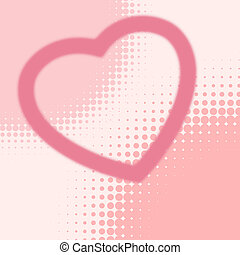 Heart halftone cars template EPS 8 vector file included
