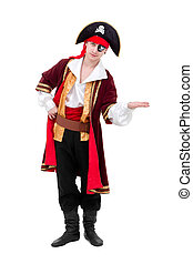 young dancer dressed as pirate seated standing