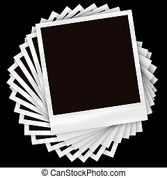 Stacked Photo Frames - A pile of instant film photos...