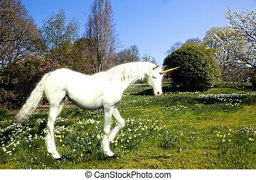 Unicorn in springtime
