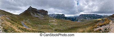 Valley in mountains Panoramic image - Poscenska valley in...