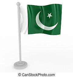 Flag of Pakistan - Illustration of a flag of Pakistan on a...