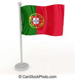 Flag of Portugal - Illustration of a flag of Portugal on a...