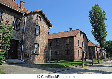 Auschwitz barracks - barracks in concentration camp...