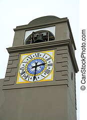 Clocktower on the Italian island of Capri.