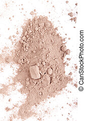 Cocoa powder - cocoa powder isolated on white background...