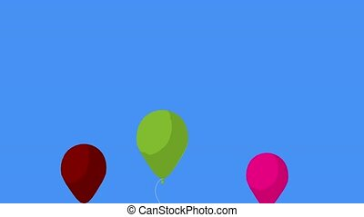 Balloons on a blue background
