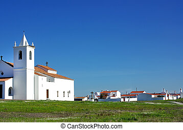 Church in Luz village Alentejo region, Portugal