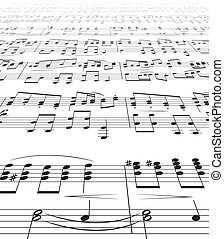 Music Notes Texture - Nusic Notes Texture Isolated on white...