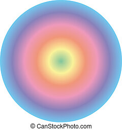 Spectral circle background