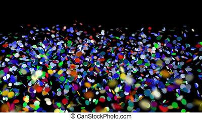 confetti with alpha channel - 3d confetti falling. colorful...