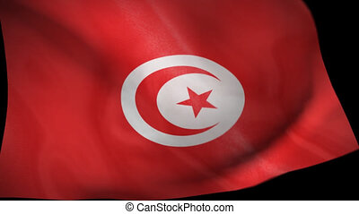 Tunisia Flag Wiper animation - Tunisia Tunis flag wiper...