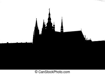 Prague castle - silhouette - A spacious residential and...