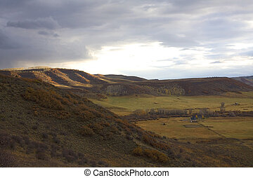 Distant ranch house - Ranch house that is in a distant...