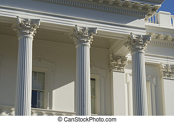 Stately Columns add prestege and presence to the Capital...