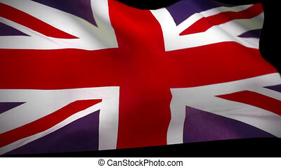 Great Britain united kingdom Flag - waving flag animation...