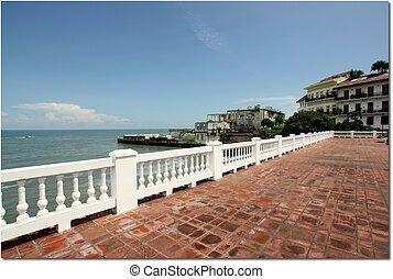 Panama City - View of Ocean Pacific in Panama City, Panama