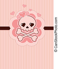 Love Skull - Very cute Love Skull place card with place for...