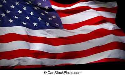 USA Flag Wiper animation with alpha - USA american flag...