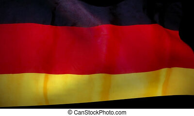 Germany german Flag Wiper and alpha - Germany German waving...