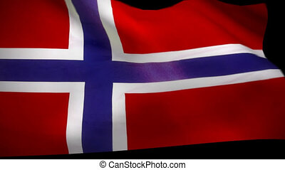 Norway Flag Wiper animation & alpha - Norway norwegian flag...