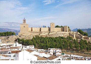 Antequera castle - Antequera city at Andalucia in Spain