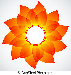 Abstract flower - Vector abstract background. No...