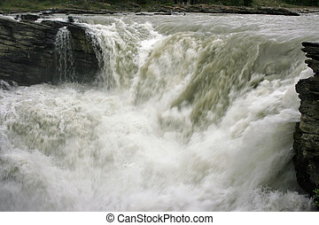 Athabasca Falls - Scenic Athabasca Falls along Hwy 93,...