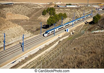 high speed train - the fastest train AVE railway at Spain