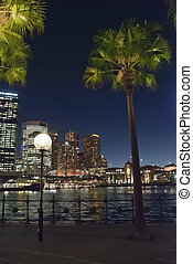 Evening approaching Sydney Harbour - Sydney Harbour at...