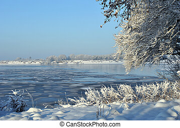 frozen expance of water in ireland - large frozen expanse of...