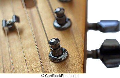 Headstock - Close up of headstock of an electric guitar,...