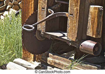 Equipment of all types was abandoned in the town of Bodie,...