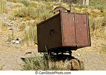 This rusty relic once hauled Gold Ore from the depth of the...