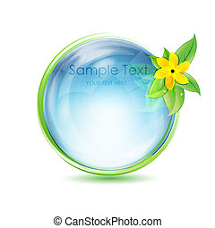 natural globe with flower
