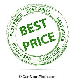 best price tag - illustration of best price tag on white...