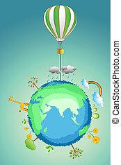 La terre, Parachute