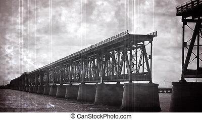 Old Footage Florida Keys Bridge