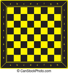 Yellow and Black Chess Table