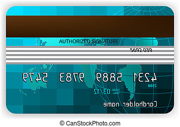 Credit cards, back view. EPS 8 vector file included