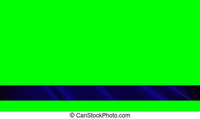 Blue Lower Third Green Screened