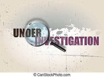 Investigation - A crime themed background image with the...