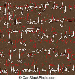 Mathematical background - Close up of mathematical...